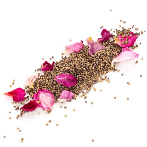 caviar de poivre à la rose de Grasse