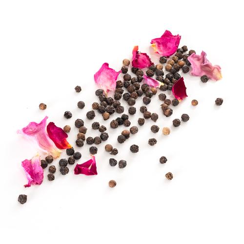 Recharge de poivre noir de Tellichery à la rose de Grasse Grains