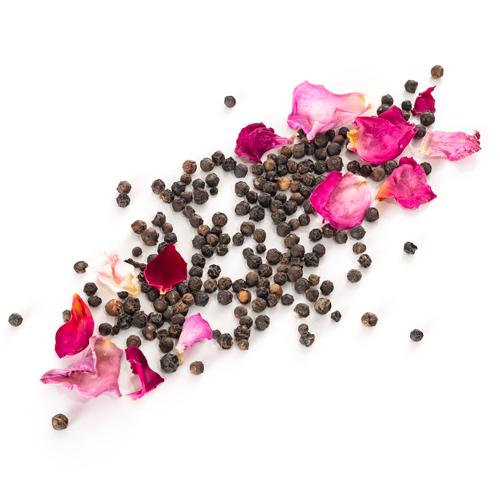 Poivre noir de Penja à la rose de Grasse Comptoir de la Rose Grains