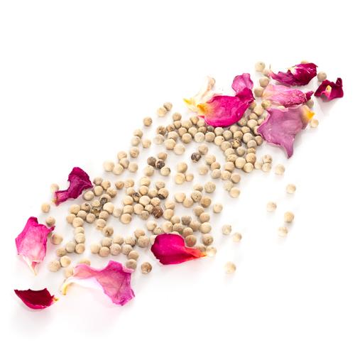 Recharge de poivre blanc de Sarawak à la rose de Grasse blanc