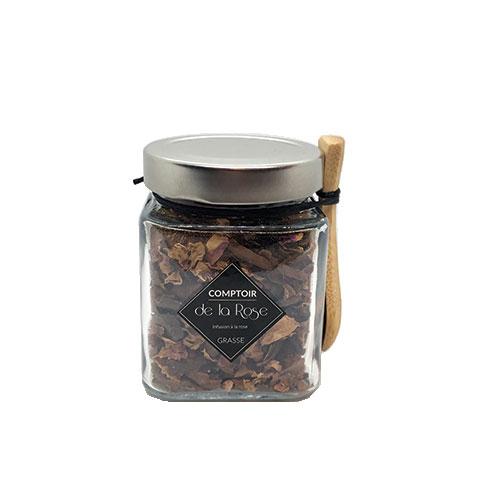 infusion écorces de cacao bio et rose centifolia comptoir de la rose